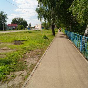 Построенный тротуар в г.Лукоянове